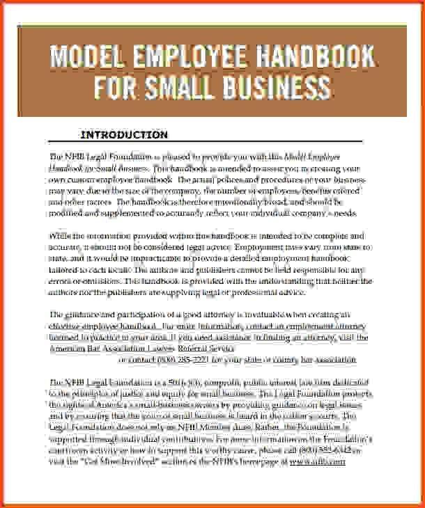 Employee Handbook Template Employee Handbook Template Handbook – Employee Manual