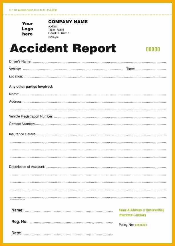 Accident Report Template. Injured Incident Reporting Form Sample .  Free Incident Report Template