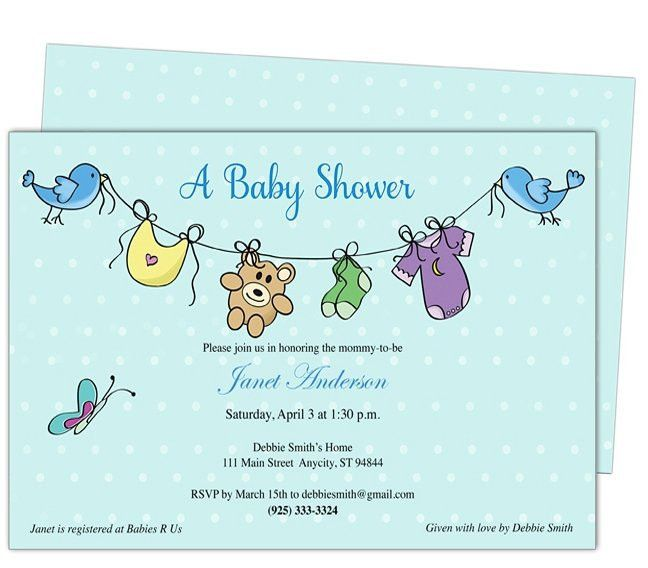 Free Baby Shower Invitation Templates Microsoft Word | Best ...