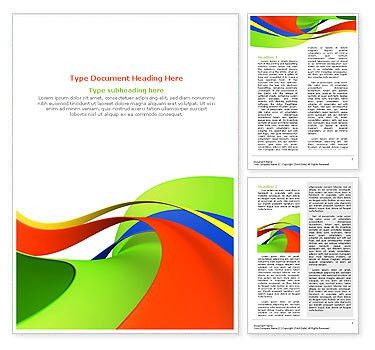 Abstract Shapes Word Template & Design ID 0000000601 ...