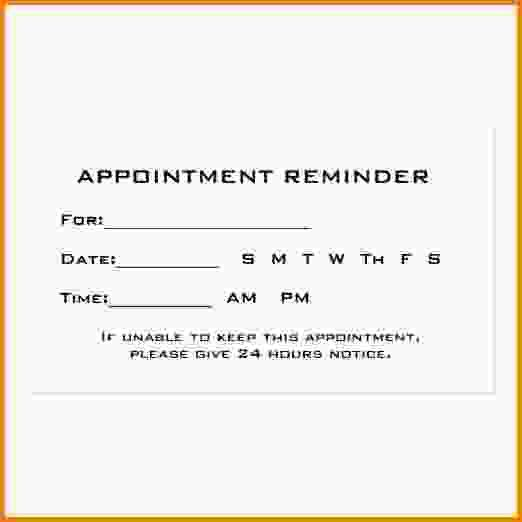 12+ appointment cards template | Letter Template Word