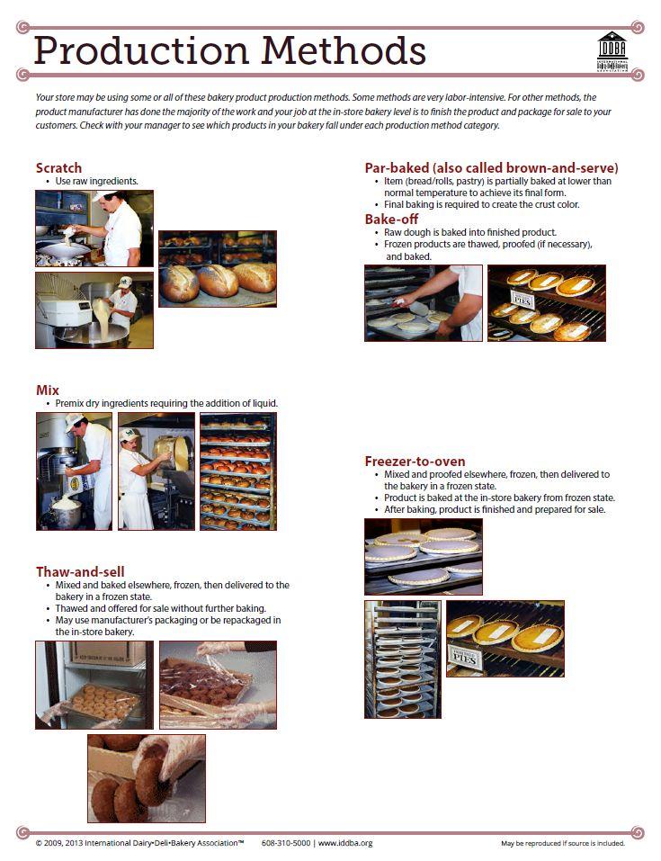 IDDBA - Bakery Department