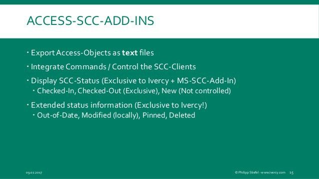 Source Code Control for Microsoft Access Developers
