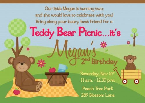 Picnic Birthday Party Invitations Ideas – Bagvania FREE Printable ...