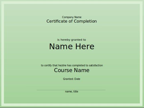 8+ PowerPoint Certificate Template – Free Sample, Example, Format ...