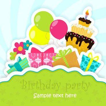 Happy birthday card template vector coreldraw free vector download ...