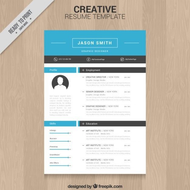 Creative resume template Vector | Free Download