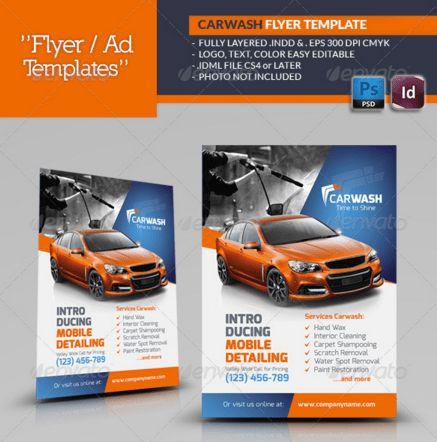 20 Car Wash Flyers – Design Blog