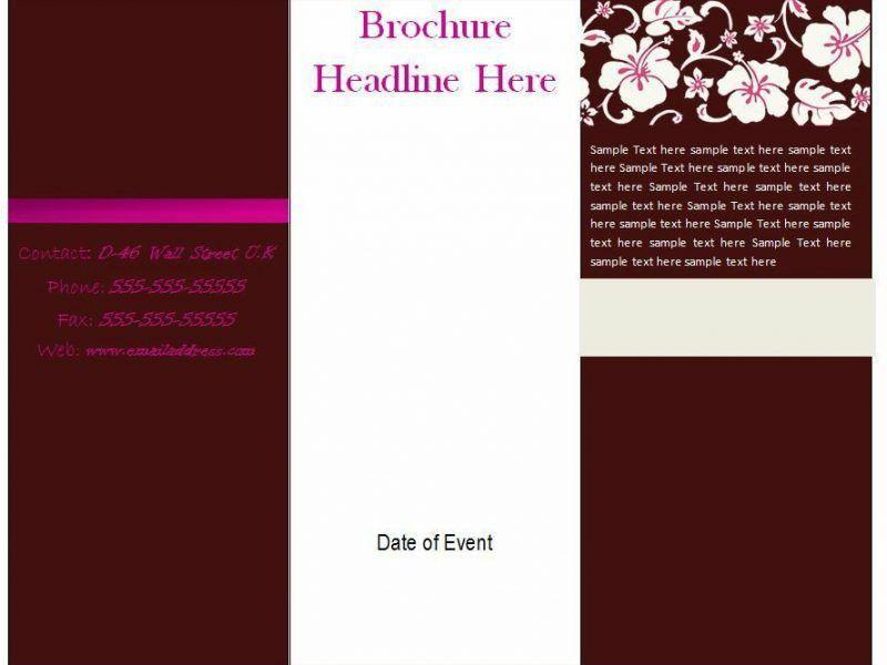 Blank Brochure Templates Free Download Word | TemplateZet