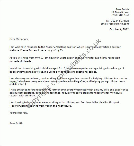Good Examples Of Cover Letters - My Document Blog