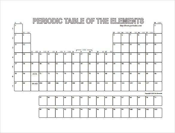 Sample Blank Table Template - 7+ Free Documents Download in Word, PDF