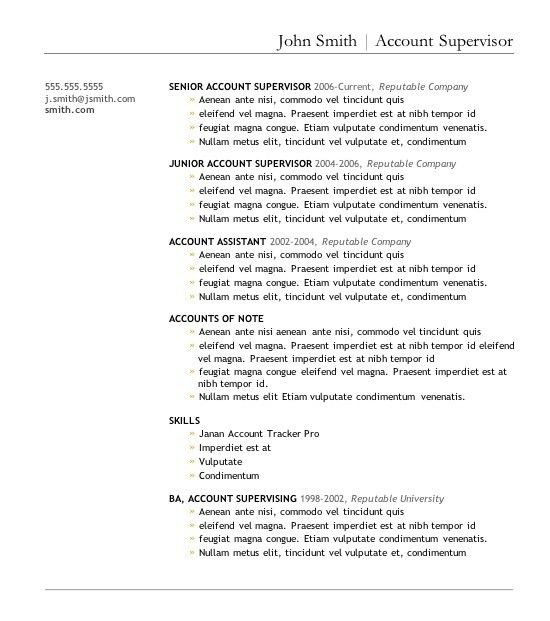 Free Downloadable Resume Templates | Template Design