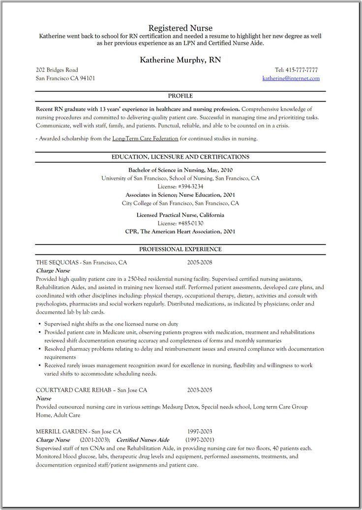 examples of lpn resumes resume for new lpn nurse cipanewsletter ...