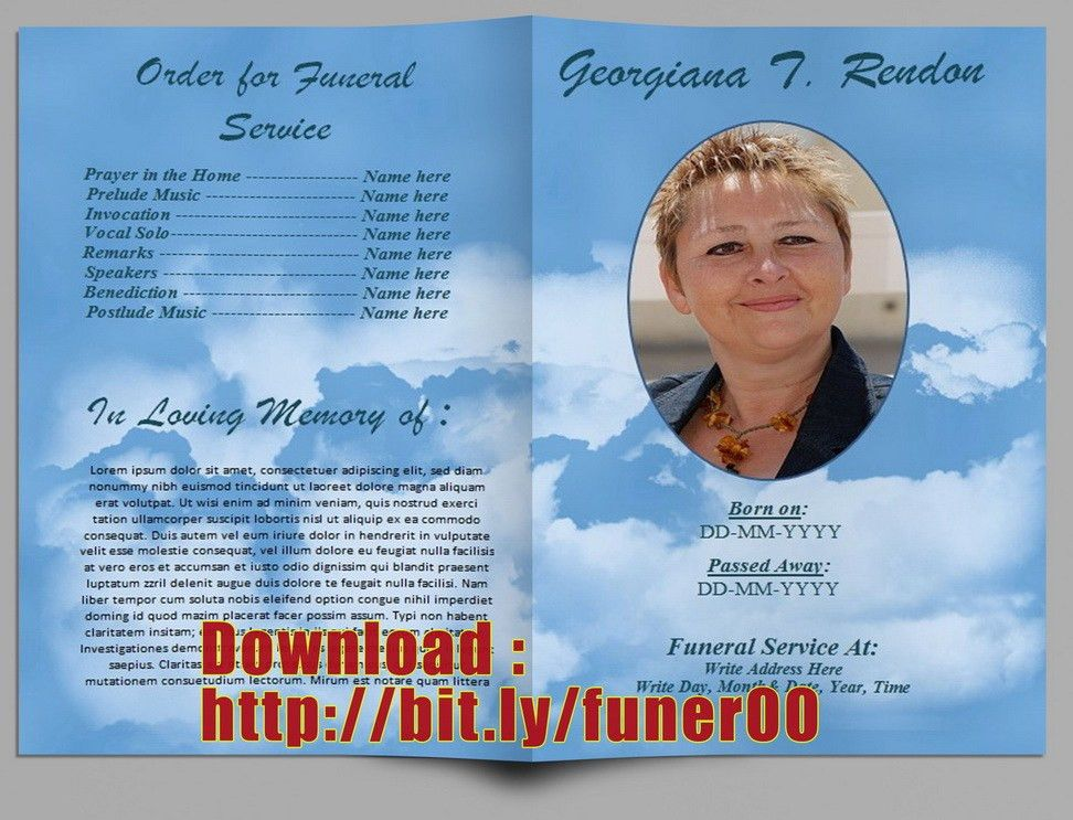 Free Funeral Program Template For Australia in Microsoft Word ...
