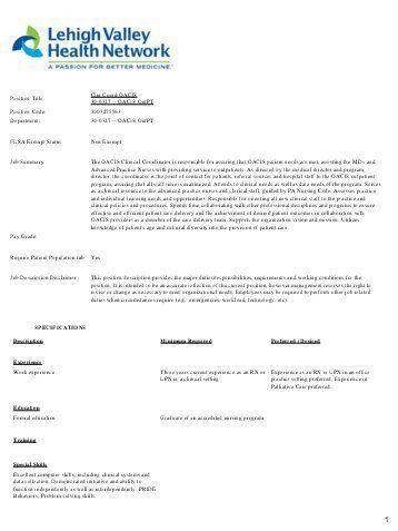 Scheduling Coordinator Job Description. Store Administrative ...