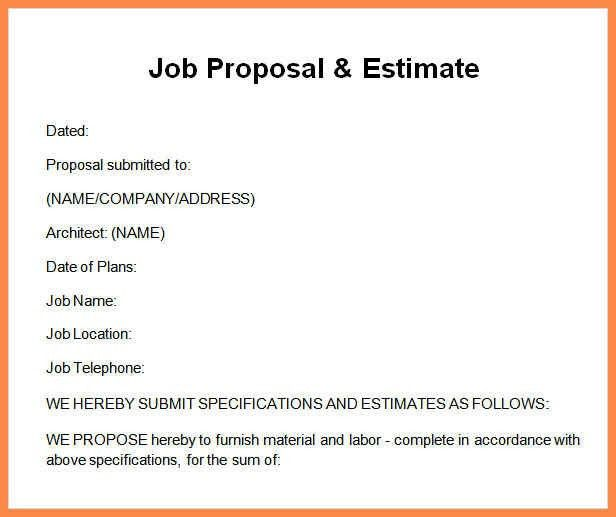 job proposal sample | resume name