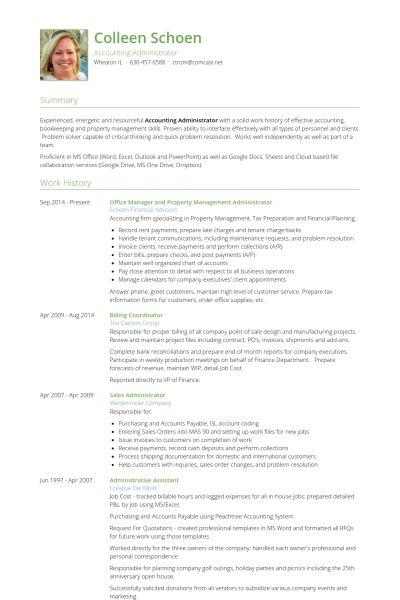 Property Management Resume samples - VisualCV resume samples database