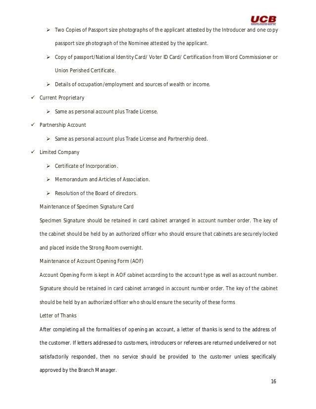 United commercial bank ltd. internship report