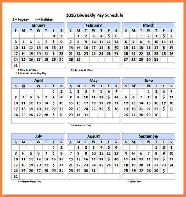 4+ payroll calendar 2017 template | Securitas Paystub