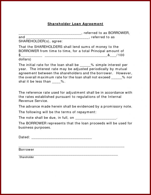 Small Business Loan Document Template Business Loan Agreement ...