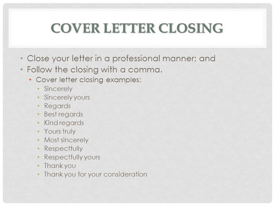 ending of a cover letters. cover letter closing paragraph cover ...