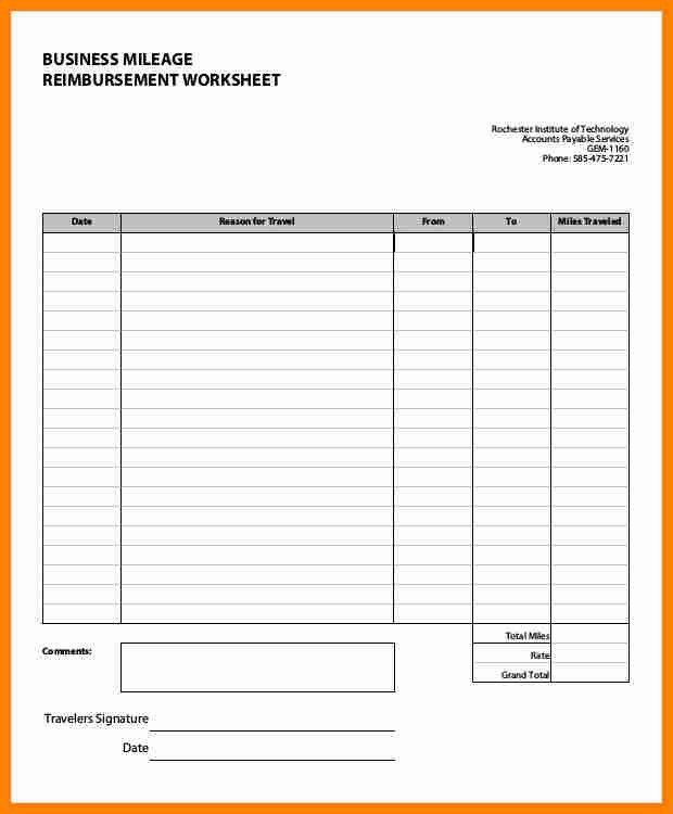 7+ mileage and expense reimbursement form | job resumed