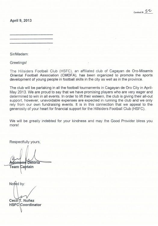 The Elegant and also Beautiful Financial Sponsorship Letter For ...