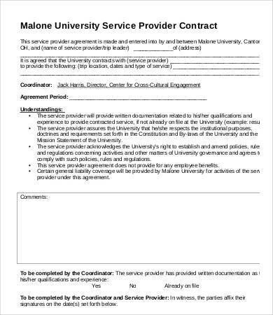 9+ Service Contract Templates - Free Sample, Example, Format ...