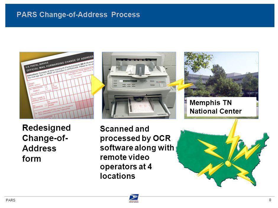 Background on USPS mail forwarding operations Overview of PARS ...