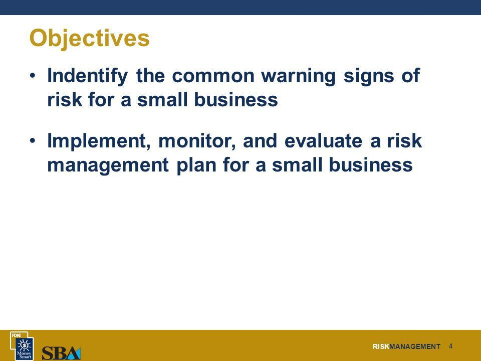 Risk Management For a Small Business. - ppt download