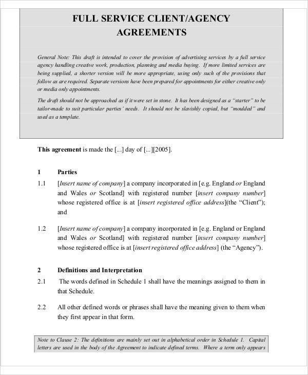 Agreement Letter Examples