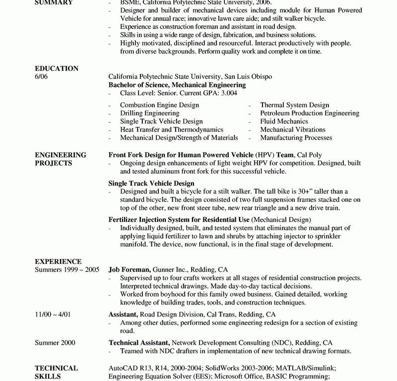 Download Cable Design Engineer Sample Resume ...