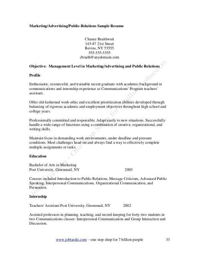 public relations assistant cover letter