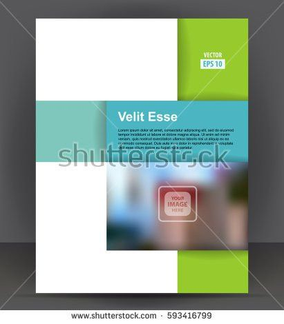 Magazine Flyer Brochure Cover Layout Design Stock Vector 180679301 ...
