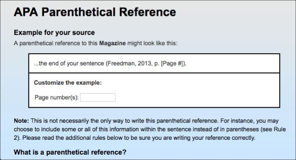 How to create parenthetical (in-text) references : NoodleTools ...