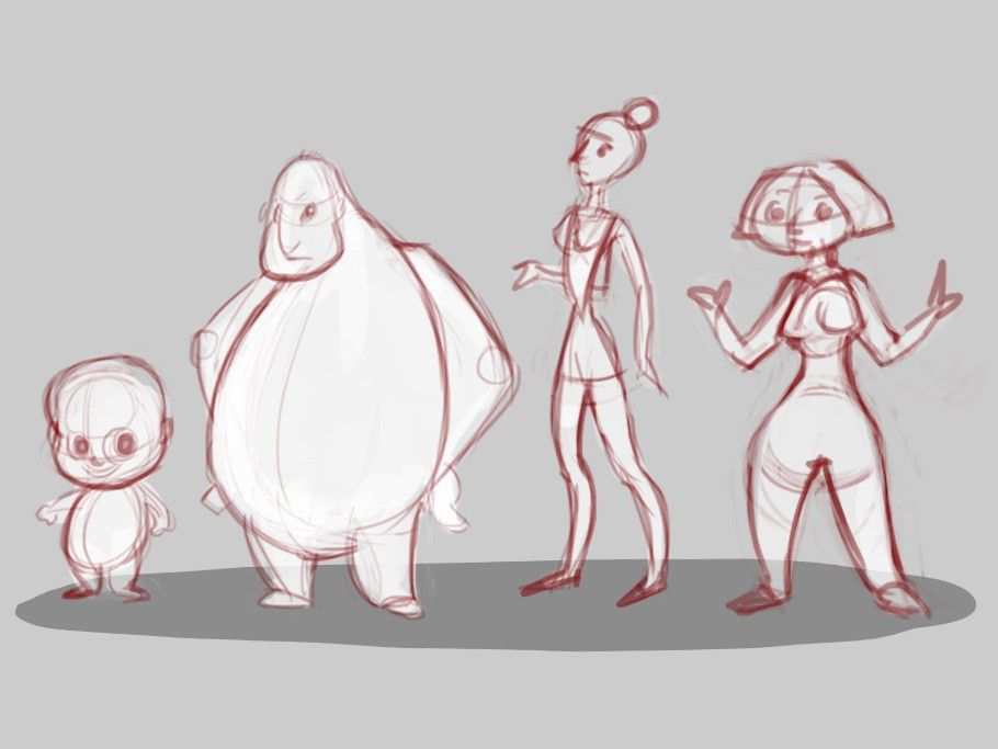 How to Convey Character's Personality Through Shape, Variance and Size