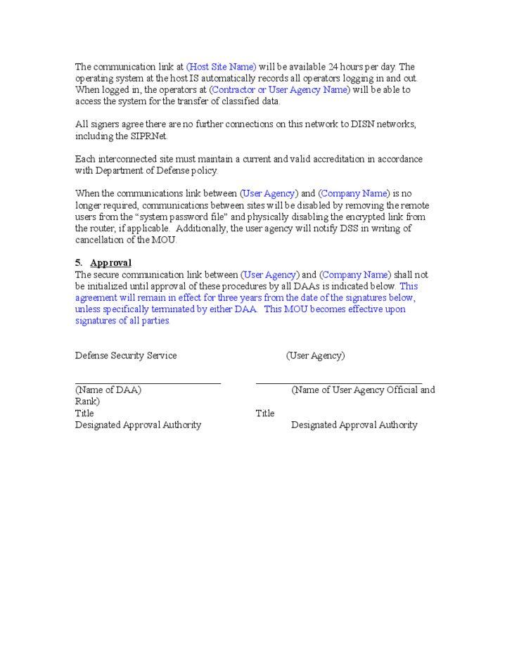 Memorandum of Understanding Template Free Download