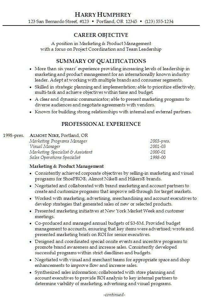 Professional Summary Example | Template Design