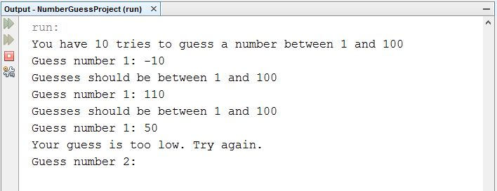 while loop in java number guess - Stack Overflow