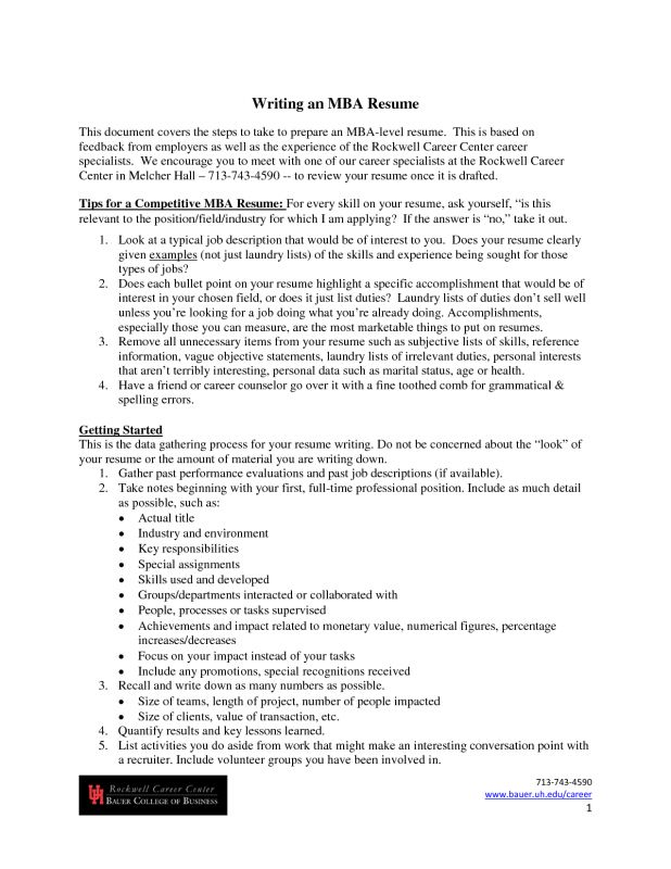 Picturesque Design Resume For Mba Application 8 Sample Student ...