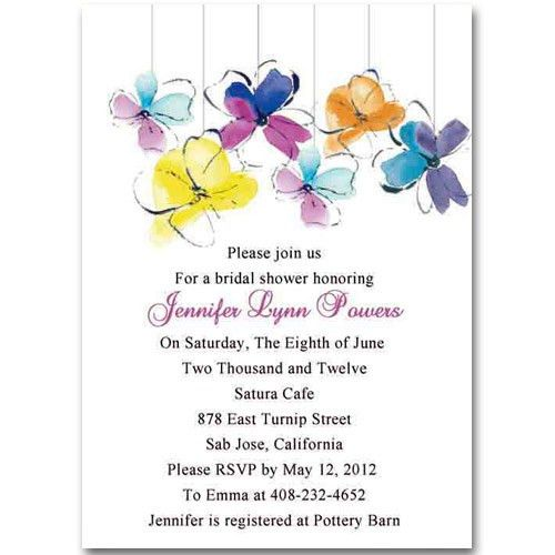 unique colorful flower summer bridal shower invitations EWBS014 as ...