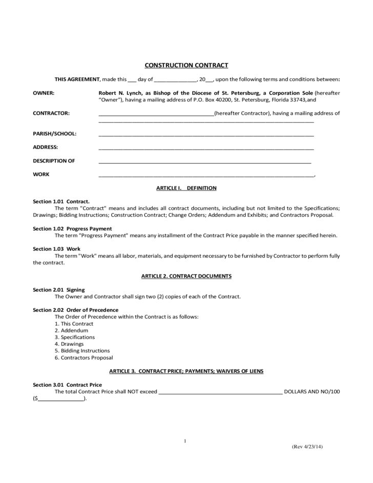 residential construction contract template - Etame.mibawa.co
