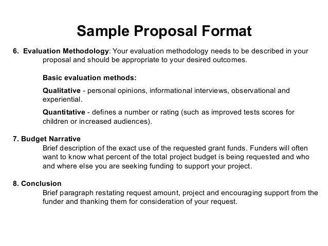 Grant Proposal Template. Sample Grant Proposal Printable Sample ...