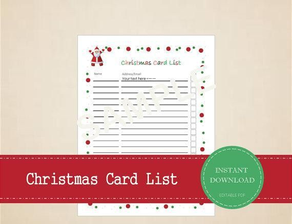 Christmas Gift List Template | Download Free & Premium Templates ...