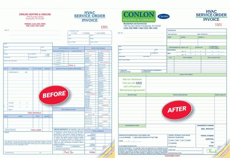 "CON6540 Plumbing Invoice with Checklist 8 1/2 x 11"""