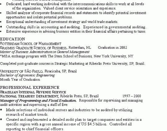 Investment Banker Resume Example resume sample banker financial ...