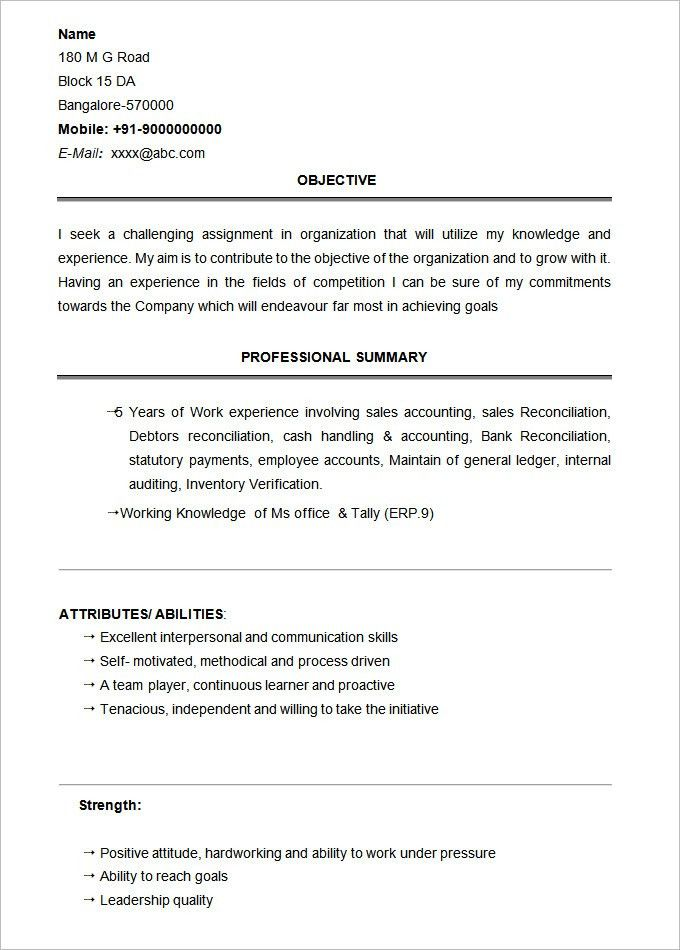 Student Resume Template – 21+ Free Samples, Examples, Format ...