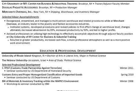 Freight Forwarder Resume Examples - Reentrycorps