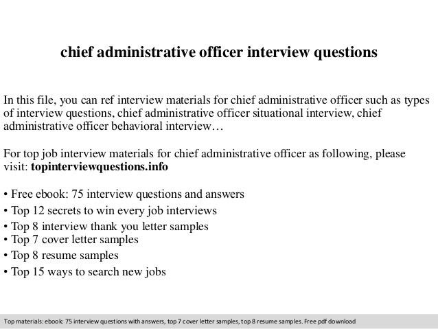 chief administrative officer resume