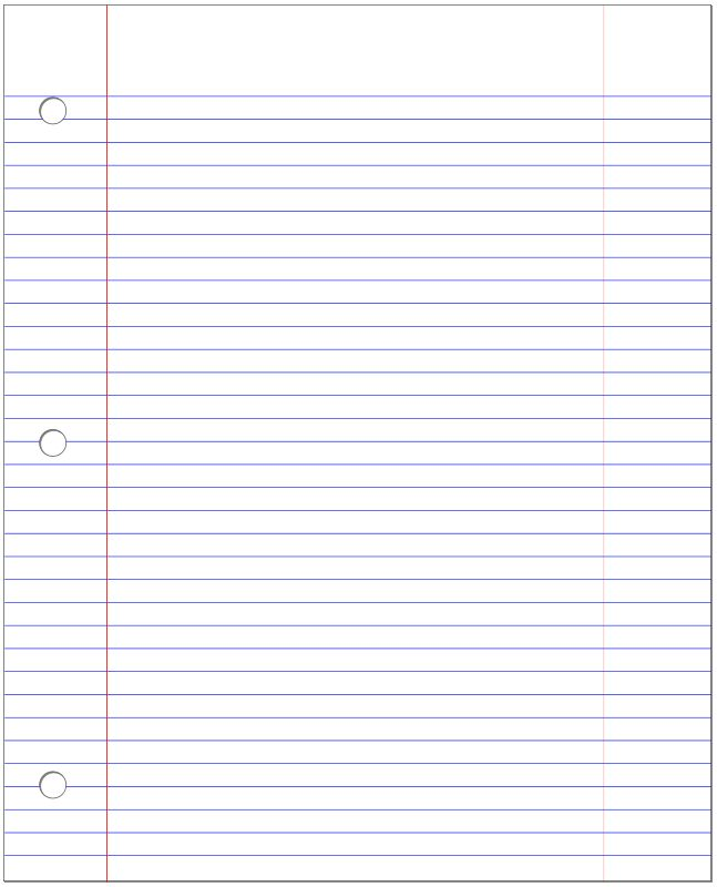 Lined Notebook Paper Clipart - clipartsgram.com